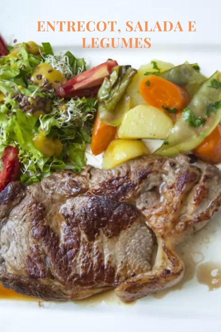 entrecot salada legumes