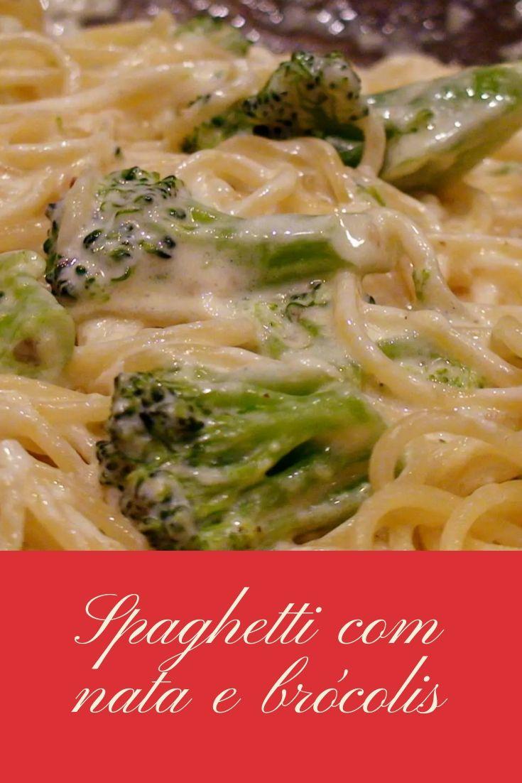 Spaghetti com nata e brócolis