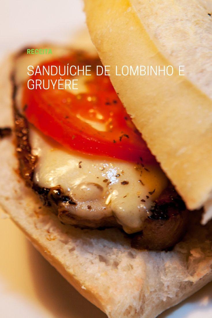 Sanduíche de lombinho e gruyère