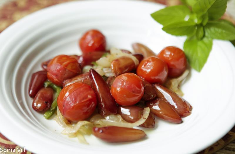 pinhao salada tomate
