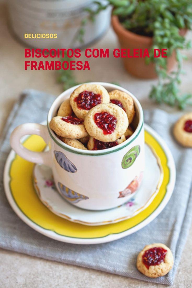 Framboesa-biscoitos