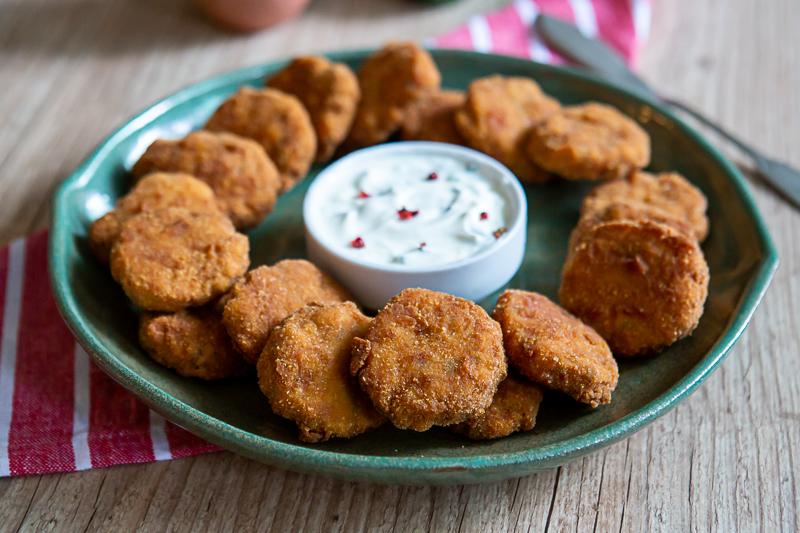 Nuggets de frango caseiros - receita