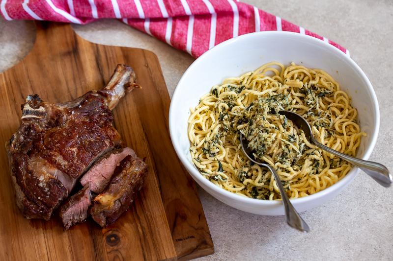 spaghetti e prime rib