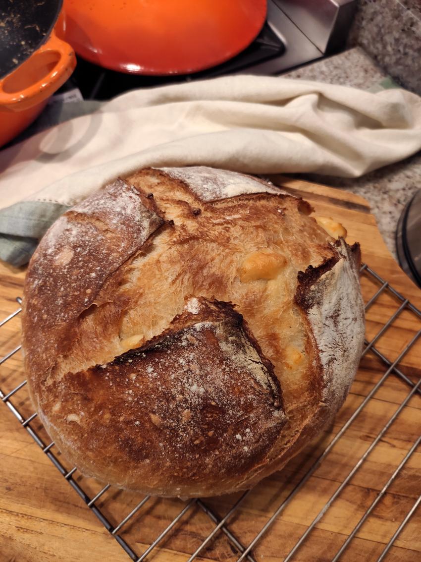 pão caseiro de panela