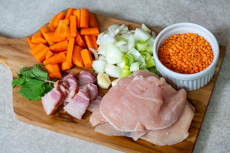 frango com lentilhas