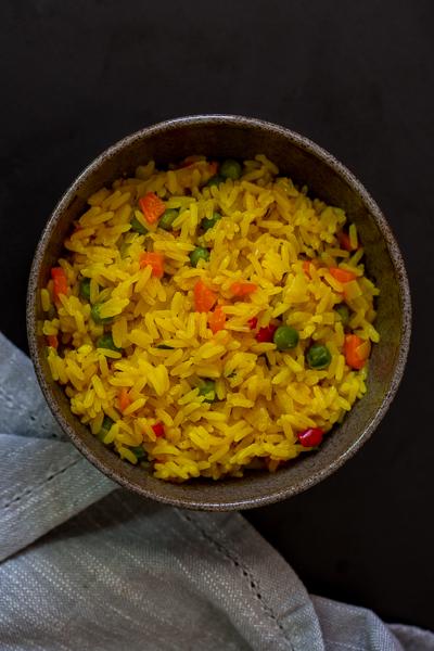 arroz legumes colorido