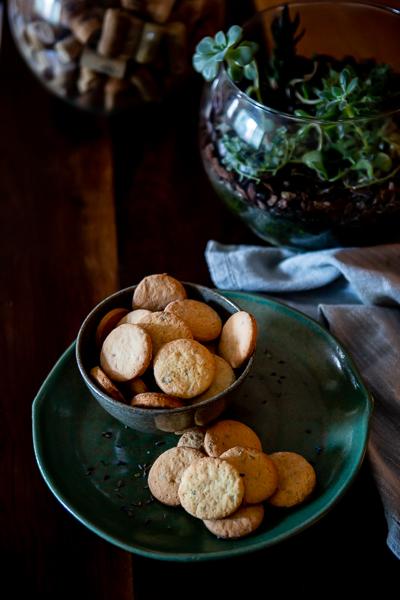 Biscoitos de nata com lavanda e raspas de laranja